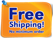 Free shipping on all retail US orders. No minimum order.